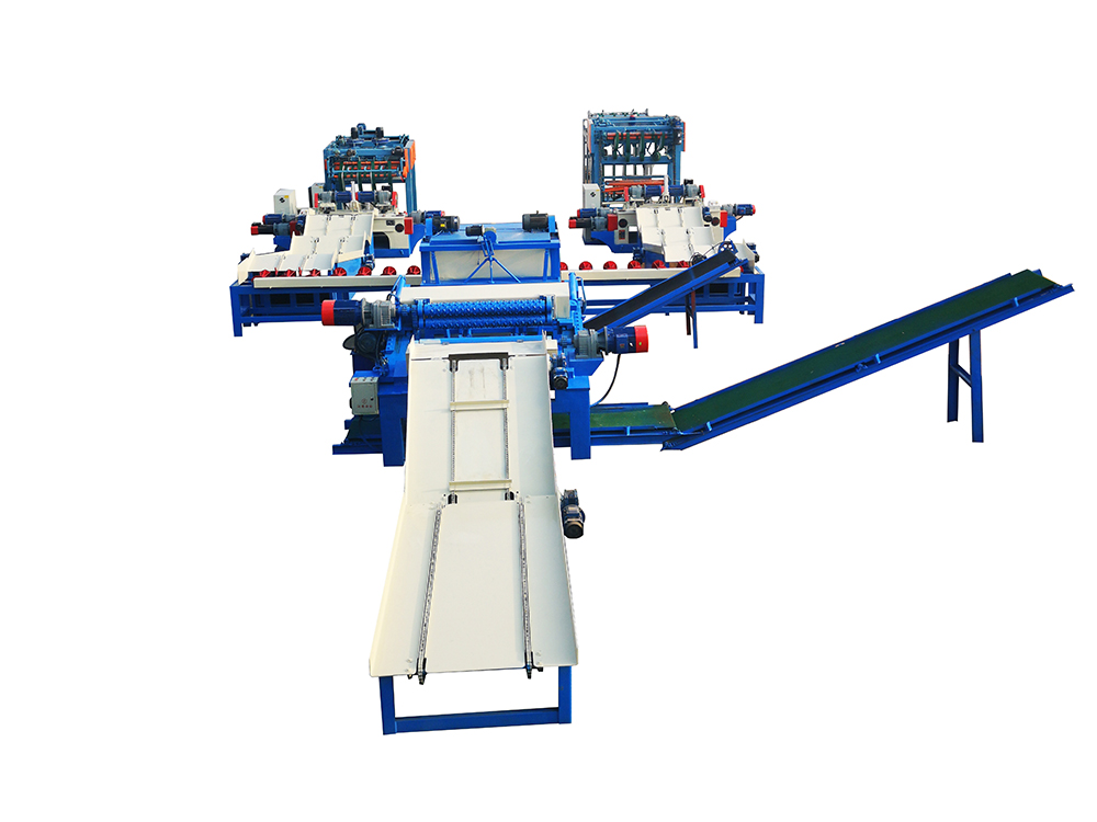 Intelligent veneer peeling machine production line